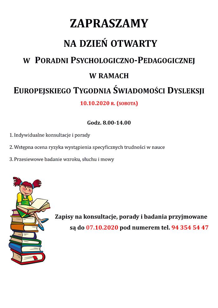 Plakat Dzień Świadomości Dysleksji 2020