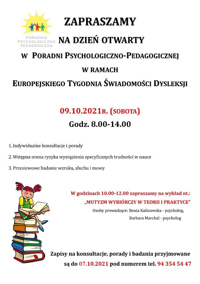 Plakat Dzień Świadomości Dysleksji 2021